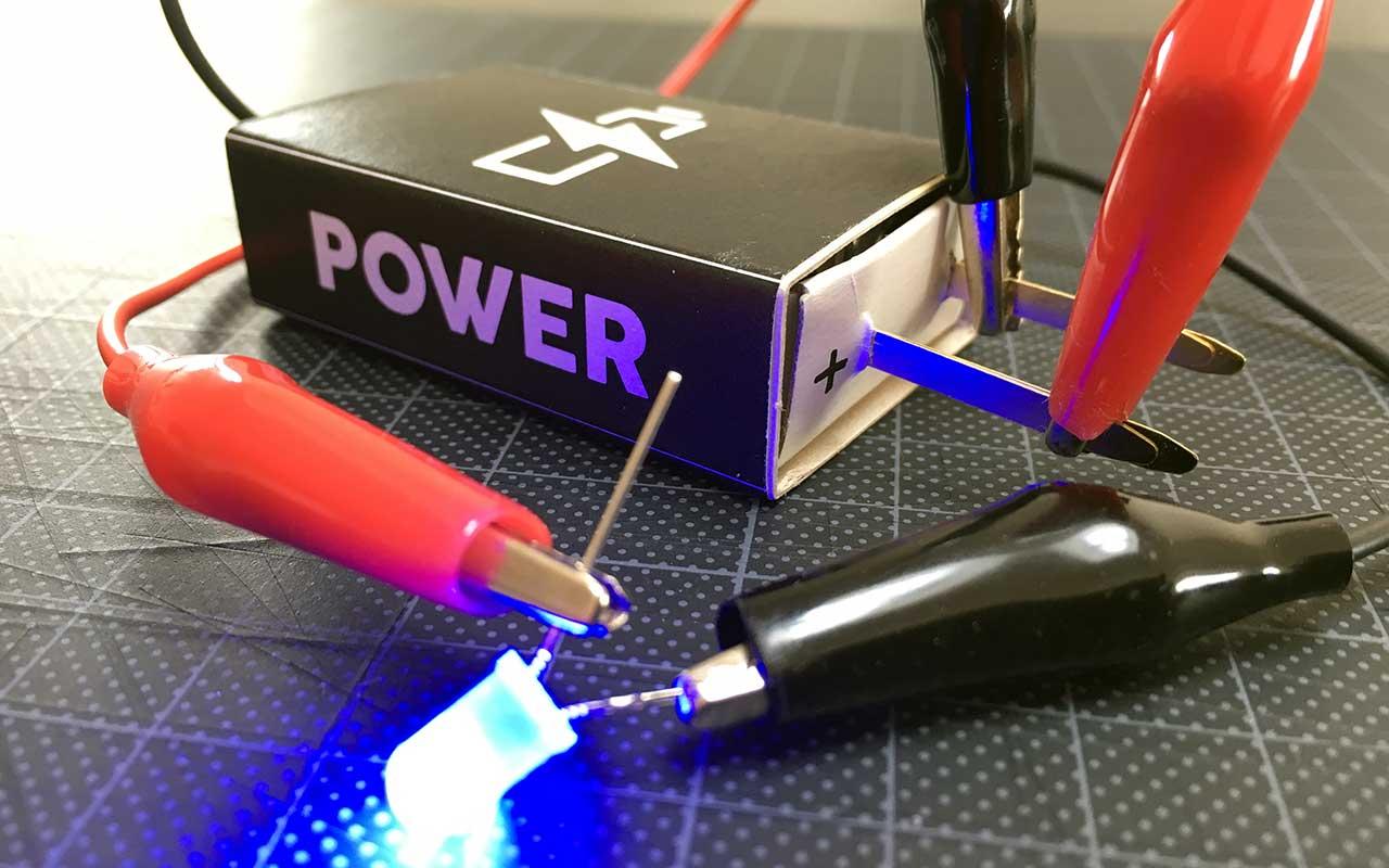 Tændstikæske-batteriholder