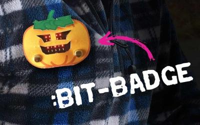 Byg et lysende interaktivt halloween badge med micro:bit / ultra:bit