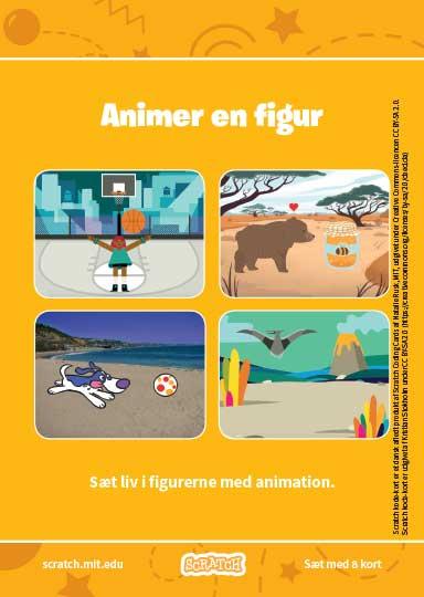 Kode-kort serien Animer en figur