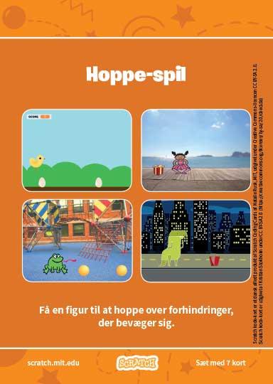 Scratch Kode-kort serien Hoppe-spil.