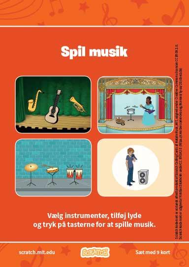 Kode-kort serien Spil musik.
