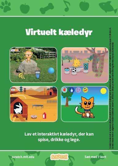 Kode-kort serien Virtuelt kæledyr.