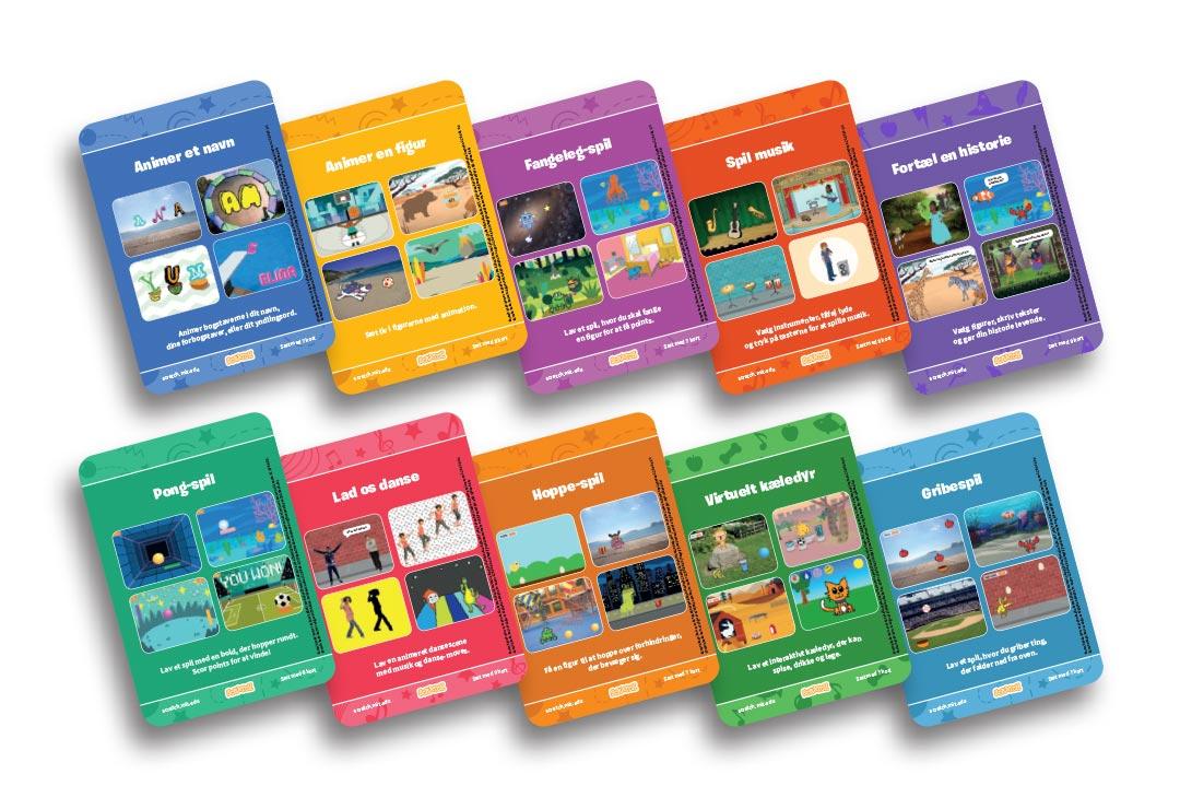 Scratch kode-kort sæt med 10 kortserier.